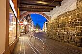 Martin´s Gate in Kaiser Joseph Street at Freiburg im Breisgau, Baden-Württemberg, Germany, Germany.
