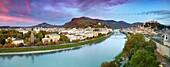 Panoramic view of Salzburg, Austria.