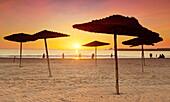 Agadir sand beach, Morocco, Africa.
