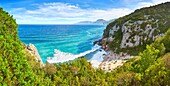 Cala Fuili, Orosei Gulf, Orosei National Park, Sardinia, Italy.