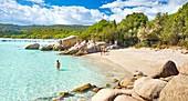 Santa Giulia Beach, Porto-Vecchio, East Coast of Corsica Island, France.