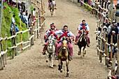 Horse races in Todos Santos Cuchumatan for the All Saint Day Festival on november 1, Guatemala, Central America.