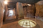 Dolmen - Cueva de Menga, Antequera, Malaga province, Region of Andalusia, Spain, Europe.
