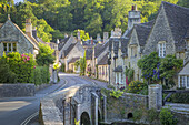 Early Morning in Castle Combe, the Cotswolds, Wiltshire, England.