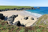 Porth Joke or Polly Joke beach near to Crantock Cornwall South West England UK.