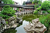 Yuyuan or Yu Garden Jade Garden Old Town Shanghai China. Hall of Jade Magnificence in Yuyuan Garden Garden of Happiness or Garden of Peace in Old City of Shanghai, China. Yu Garden or Yuyuan Garden Yù Yuán, lit. Garden of Happiness is an extensive Chinese