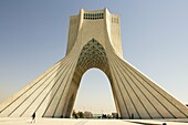 Image Azadi Tower in the Iranian capital Tehran, It is the most important monument in Iran and also called Statue of Liberty, It is a place for military reviews and protests in Iran.