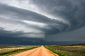 Supercell storm moves across eastern Colorado June 2, 2005.