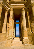 SABRATHA, LIBYA - APRIL 08: Sabratha was one of the three cities of Tripolis, it lies on the Mediterranean coast west of Tripoli,the archaeological site was inscribed as a UNESCO World Heritage Site in 1982 on April 8, 2012 in Sabratha, Libya.