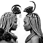 Himbas are a bantu ethnic group. These nomadic pastoralists live mainly in Namibia but also in south Angola, crossing the borders without any visas. In Angola, most of them live in remote areas, far from the towns, and are not spoiled by modernity, wherea