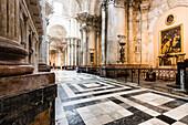 The aisle in the cathedral, Cadiz, Costa de la Luz, Spain