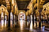The column of the cathedral Mezquita-Catedral de Cordoba, Cordoba, Andalusia, Spain