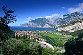 over Torbole, Northern lake Garda, Trentino, Italy