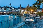 Evening in Thun, canton Bern, Switzerland.