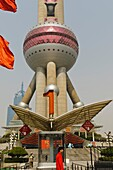 The ´Oriental Pearl TV Tower´, Pudong Business District, Shanghai, China, Asia.
