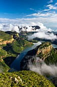 Landscape photo of a beautiful summer morning over Blyde River Canyon. Mpumalanga, South Africa.