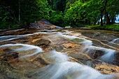 Landscape photo of one of the cascades in the Debengeni falls. Debengeni Falls, Magoebaskloof, Limpopo, South Africa.
