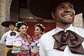 Mexican folk dancing.Guadalajara
