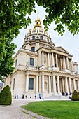 The domed hospital chapel designed by Mansart at the Saint Louis des Invalides Church in the 7th arrondissement, Paris, France.