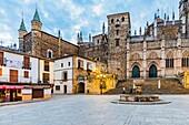 The Royal Monastery of Santa Maria de Guadalupe, Real Monasterio de Nuestra Señora de Guadalupe, is a Roman Catholic monastic establishment in Guadalupe, Cáceres, Extremadura, Spain, Europe.