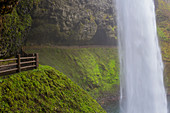 The South Loop Trail goes behind South Falls to make up part of the Trail of Ten Falls at Silver Falls State Park in Oregon
