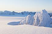 Aerial view of Kenai Mountains near Homer, Alaska.