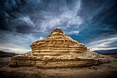 'A rock formation in the wilderness located in the Jordan Valley near the Dead Sea; Israel'