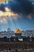 'Cityscape of the old city of Jerusalem; Jerusalem, Israel'
