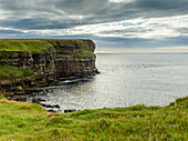 'Cliffs along the coastline and the North Sea, Duncansby Head; John O'Groats, Scotland'