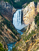 'Waterfall from the Yellowstone river, Yellowstone National park; Wyoming, United States of America'