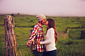 Romantic Young Couple in Love Outdoors