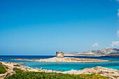 'Tower of La Pelosa in La Pelosa Beach; Stintino, Sardinia, Italy'
