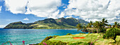 'Panorama of golf course and Nawiliwili Harbor; Lihue, Kauai, Hawaii, United States of America'
