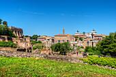 Palatine hill, Senators palace, Arch of Septimus Severus, Monumento Nazionale a Vittorio Emanuele II, Forum romanum, Rome, Latium, Italy