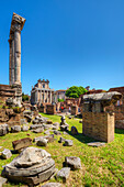 Temple of Castor and Pollux, Temple of Antonius and Faustina, Forum romanum, Rome, Latium, Italy