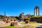 Temple of Antonius and Faustina, Temple of Castor and Pollux, Forum romanum, Rome, Latium, Italy
