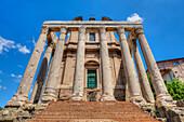 Temple of Antonius and Faustina, Forum romanum, Rome, Latium, Italy