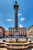 Piazza Colonna, Marc Aurel Säule, Rom, Latium, Italien