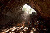 The massive Undarra lava tubes can only be visited with an experienced guide, Undarra, Queensland