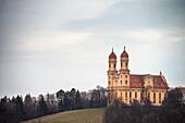 church Schoenen mountain, Ellwangen, Ostalb district, Swabian Alb, Baden-Wuerttemberg, Germany