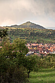 the so called Limburg is a former volcano, Weilheim at the Teck, Esslingen district, Swabian Alb, Baden-Wuerttemberg, Germany