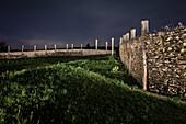 ' Gripper Gate at ''Heiden Ditch'', the ''Heidengarben'' was a celtic settlement close to Grabenstetten, around Bad Urach, Reutlingen district, Swabian Alb, Baden-Wuerttemberg, Germany, lightpainting'