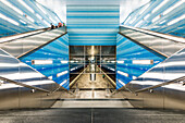 The subway station ueberseequartier of the new underground line U4 in Hafencity Hamburg, Hamburg, Germany