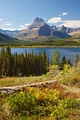 Swiftcurrent  Lake , Many Glacier Region , Glacier National Park , Montana , U.S.A. , America