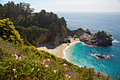 Waterfall at <Julia Pfeiffer Burns State Park> , Pacific Ocean , Southwestern California , California , USA