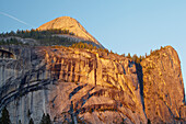 Sunset at North Dome , Yosemite Valley , Yosemite National Park , Sierra Nevada , California , U.S.A. , America