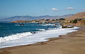 Pacific coast near Bodega Bay , Sandy Beach , Pacific Ocean , Sonoma , California , U.S.A. , America