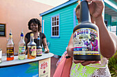 Women sell typical local drinks on the streets of Saint John's Caribbean Antigua and Barbuda Leeward Islands West Indies