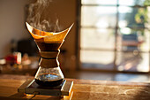 Drip coffee, the old-fashioned way.