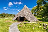Cook House at Castell Henllys Iron Age Fort, Pembrokeshire Coast National Park, Pembrokeshire, Wales, United Kingdom, Europe.